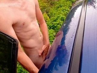 Parking wanking midday | wanking
