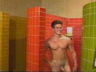 It gets hot in the locker room. | cums  getting  locker  room