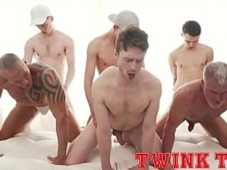 TWINKTOP - Hung twink tops fuck hot daddy ass in bareback group sex | ass collection   bareback   daddy   fucking   group film   hung hq