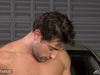 Married male gets banged in garage | banged   getting   hunks best   males   married