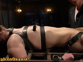 Edging bdsm sub tied up for cocksucking | forced   tight movie