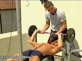 twiks get fucked on the bench press   fucking  twinks