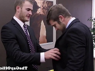 Tattooed officestud rams applicants asshole | asshole   muscular   tattooed