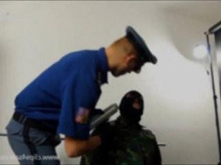 PRISON COP WRAPPED HEAD OF SLAVE   fetish  head  slave