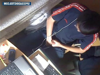 SPECSADDICTED Chinese guy jerking off in the internet cafe | chinese man   jerking   small