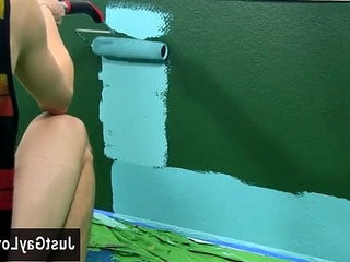 Twink sex Splashed and smeared with colorful smudges the guys are | deepthroat  twinks