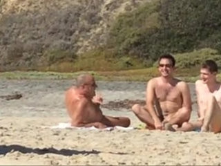 Guys caught jerking at nude beach | beach   caught   jerking   nude   outdoors