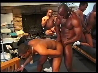 Black studs have group sex | black tv   group film   studs