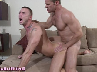 Powerful top giving throatfuck session | muscular   session