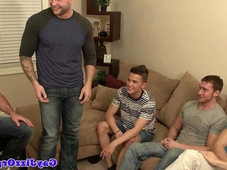 Bear gets blowjob from hungry twink in group   bears best  blowjobs  getting  group film  hungry  twinks