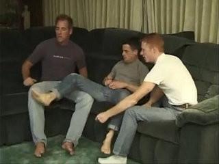Three horny studs hard in a threeway gay video | fucking  gays tube  hardcore  horny  studs  threeway
