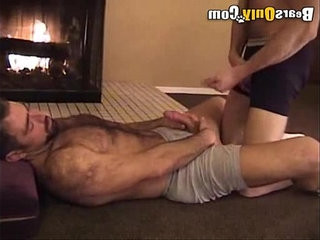 Furry Mature Men Beside The Fireplace | bears best   mature   mens