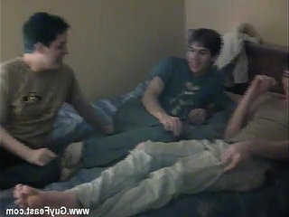 Gay clip of Try as they might, the men cant coax timid Nathan to | clip hot  gays tube  mens  might  shaved