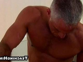 Horny couple fucking a hot twink hard anally | anal top  fucking  hardcore  horny  mature  stud