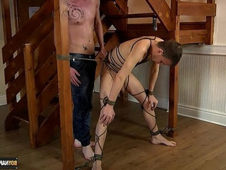 Rope Bound Leo James Gets Used | domination  getting